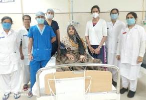 સરકારી તબીબોની પ્રશંસનીય કામગીરી હિંમતનગરની જનરલ હોસ્પિટલમાં મહિલા દર્દીનું સફળ ઓપરેશન
